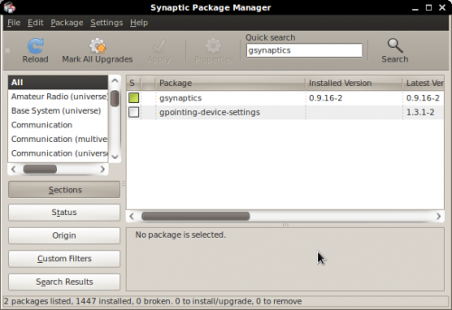 Gsynaptics - Synaptic Package Manager