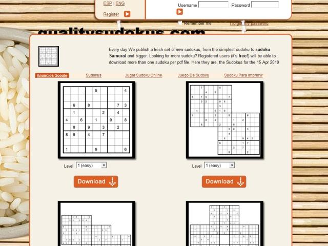 Online sudoku generator