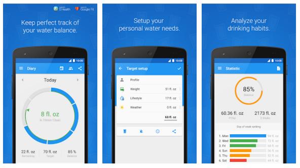 Android applikáció napi folyadék fogyasztás mérésére